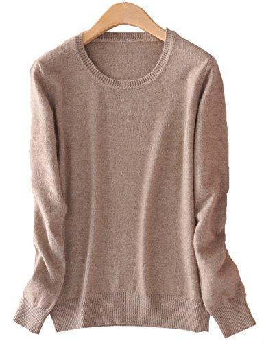 Xiouli Classic Crew Neck Merino Wool Sweater Coat For Women 958803(XS,camel)