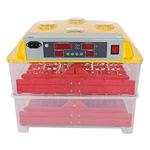 72huevos Digital incubadora nacedora laboratorio ciencia equipo | pollo aves Aves incubadora de huevos sombreado Digital w/alarma de control de temperatura automático huevo Turner