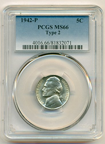 1942 P Jefferson Type 2 Silver Nickel MS66 PCGS