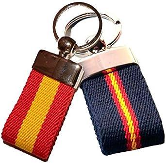 ZiNGS Llaveros cinturón con bandera de España - Azul oscuro: Amazon.es: Ropa y accesorios