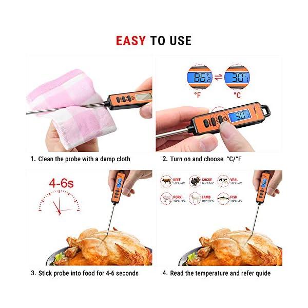 ThermoPro TP01S Termometro da Cucina Lettura Istantanea con Sonda Lunga Termometro Carne Digitale per Cottura Alimenti… 7