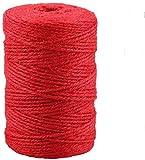 Red Jute Twine,328 Feet Colorful Jute Twine Best
