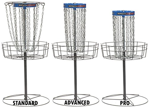 DGA Mach Shift 3-in-1 16 Chain Portable Practice Disc Golf Basket - Blue