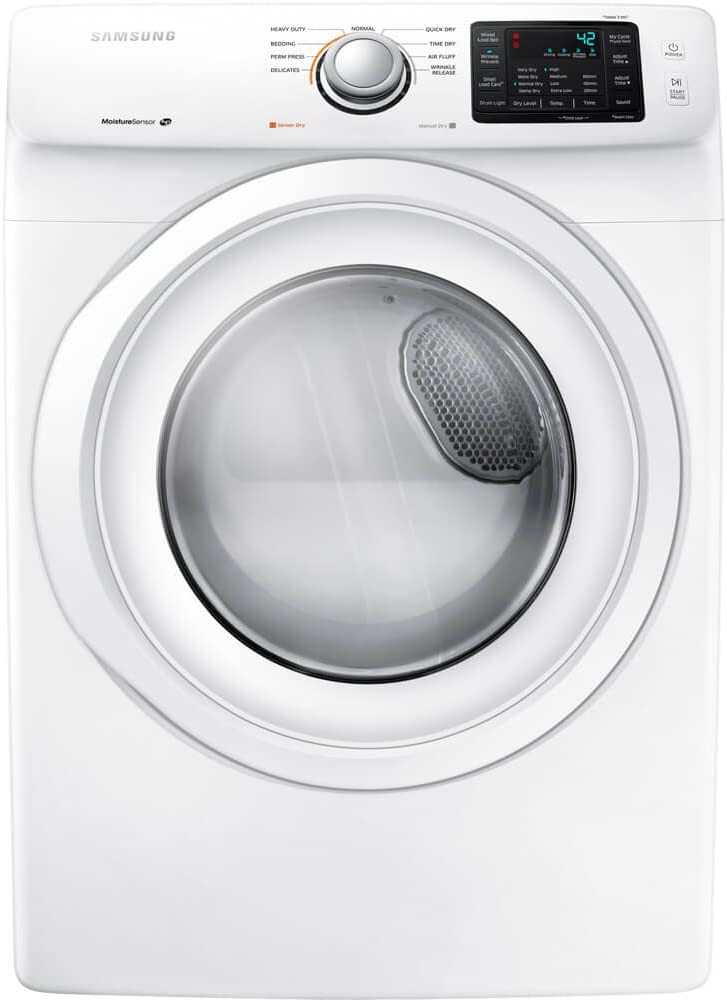 Samsung DV42H5000EW 7.5 Cu. Ft. Front-Load Electric Dryer with Smart Care, White