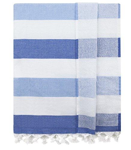 Supreme Zebra Print Rug (Eshma Mardini Bath & Beach Towel, %100 Cotton Peshtemal, Pool, Spa, Sauna, Hot Yoga Towel (Double Sided) Various Colors - ( Blue ))