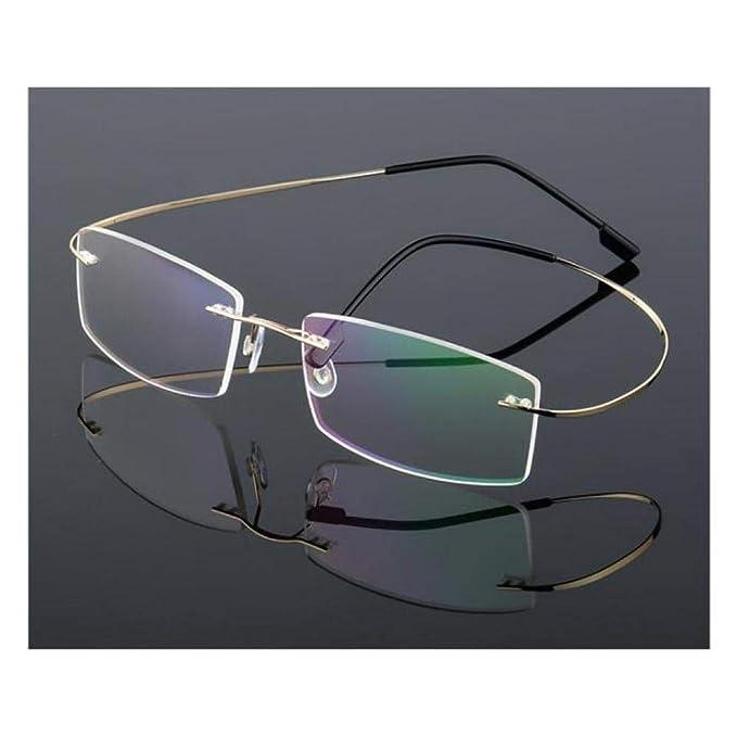 ae4ccf88a31 XUBA Ultra-Light Rimless Optical Frame Men Women Titanium Alloy Eyeglasses  Frame Myopia Prescription Glasses Frames  Amazon.ca  Clothing   Accessories
