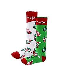Qyqkfly Girls Lovely Princess Knee High Unique Cute Christmas Owl Boot Tube Socks