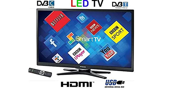 Polaroid 3 – 22 de LED de 14 Smart con retroiluminación LED TV, Black DVB-C/T USB multijugador: Amazon.es: Electrónica