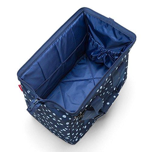 Reisenthel allrounder Bolsa de viaje, 48 cm, 30 liters, Negro (Fifties Black) Azul (Spots Navy)