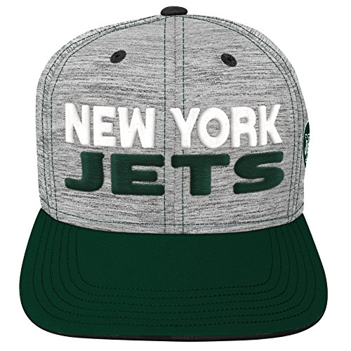 NFL by Outerstuff NFL New York Jets Youth Boys Space Dye Snapback Hat Heather Grey, Youth One Size