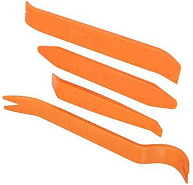 Vkospy 4pcs Fahrzeugtürverkleidung Audio Refit Set Car Trim Removal Tool Kit Dash Mittelkonsole Stereo Reparatur Zubehör Orange 135mm 155mm 180mm 211mm Küche Haushalt