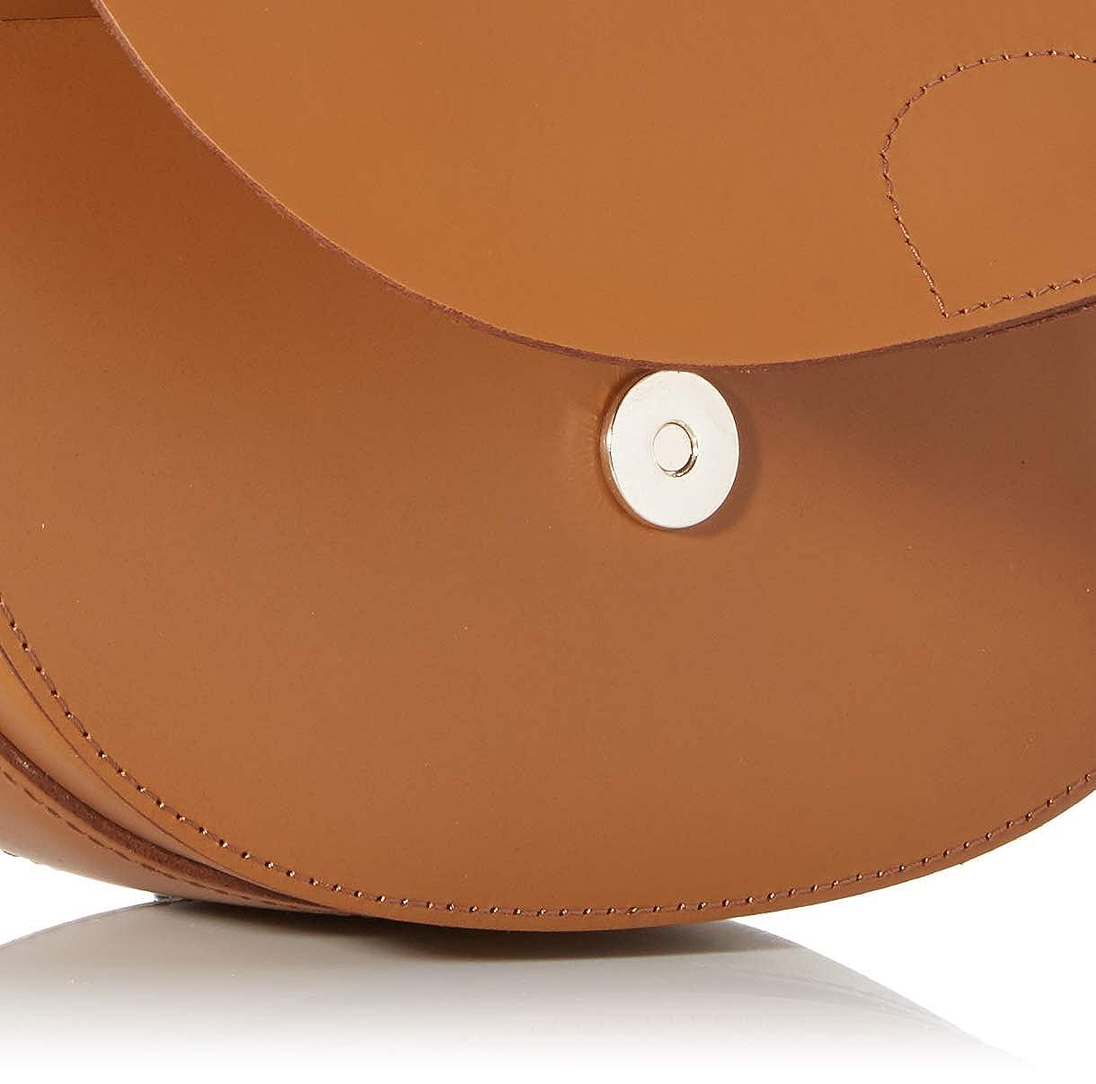 PIECES pchilal leather cross body borse a tracolla donna, marrone (cognac), 3x16, 5x20, 5 cm (b x h t)