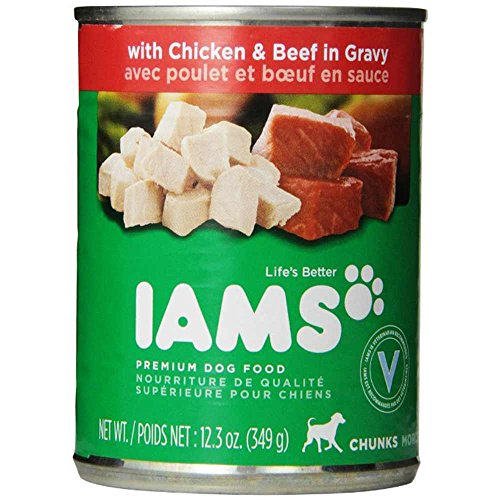 IAMS PROACTIVE HEALTH Adult Chunks With Chicken & Beef in Gravy Wet Dog Food 12.3 oz. (Pack of 12)