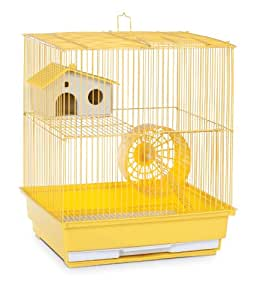 Prevue Hendryx SP2010Y Two Story Hamster and Gerbil Cage, Yellow
