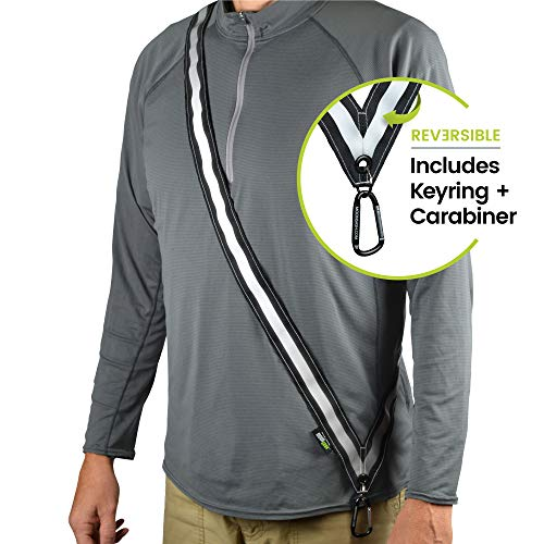 MOONSASH Midnight XL - Patented Reflective Night Safety Gear > Commuters, Dog Walking, Scooters, Bikers > Get Noticed! > Reversible, Comfortable, Practical, Stylish Sash-Band (Midnight XL)