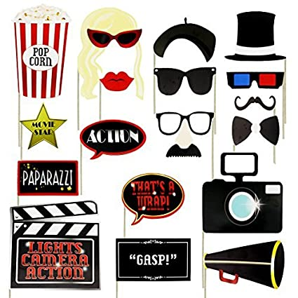 Musykrafties Old Hollywood glamour party photo booth puntelli di 18 count K6L8oIeMK2