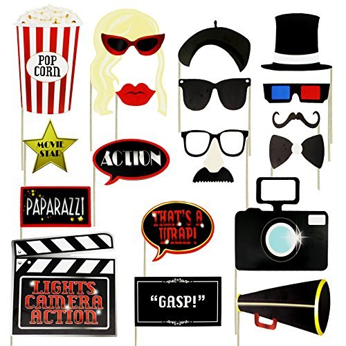 Musykrafties Old Hollywood Glamour Party Photo Booth Props Accessory 18 - Clapper Sunglasses