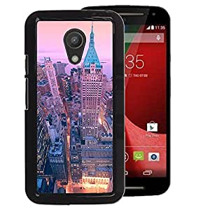 A-type Arte & diseño plástico duro Fundas Cover Cubre Hard Case Cover para Motorola G 2ND GEN II (40 Wall Street New York City Skyline)