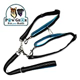 2 Dog Leash Tangle-Free Dual Dog Leash – Double Leash for Big and Small Dogs - Neoprene Padded Handles for Extra Comfort – Seatbelt Hooks Included – Heavy Duty Construction