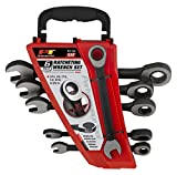 Performance Tool W1166 Black SAE Ratchet Wrench Set, 6 Piece Set