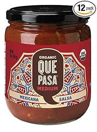Que Pasa Organic Medium Mexicana Salsa, 16 Ounce - 12 per case.