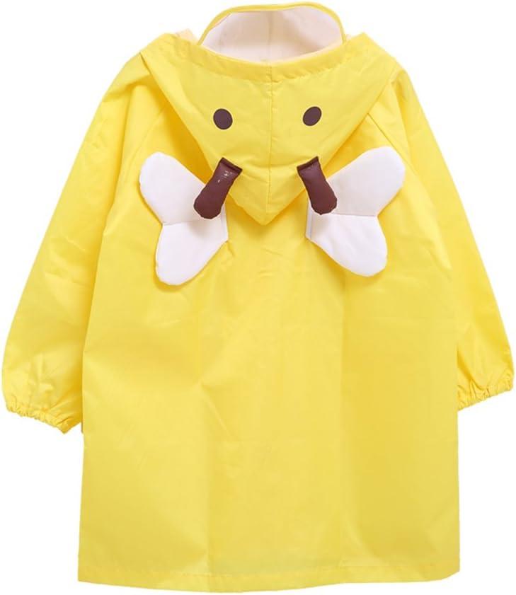 Bambini Pioggia Cappotto Unisex Impermeabile Coprizaino Poncho Giacca da Pioggia con cappuccio per Ragazze /& Ragazzi S//Per 2-4 Anni