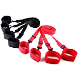 Toponechoice Adult Sex Sexy Fun Game Tied Tease Under Bed Bondage Restraint Straps Belts Nylon Hand Cuffs Ankle Cuffs Set For Couples Random Color
