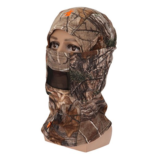 SPIKA Camo Fleece Balaclava Hunting Hood Headwear Military Tactical Helmet Full Face (Headwear Fleece)