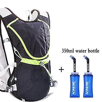 XUSHSHBA 8L Lightweight Running Vest Backpack Outdoor Sports Marathon Cycling Hiking Bag Mochila Optional 1.5L