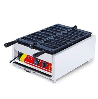8pcs comercial eléctrico Caracol en forma de pene máquina para hacer gofres acero inoxidable waflle Panificadora