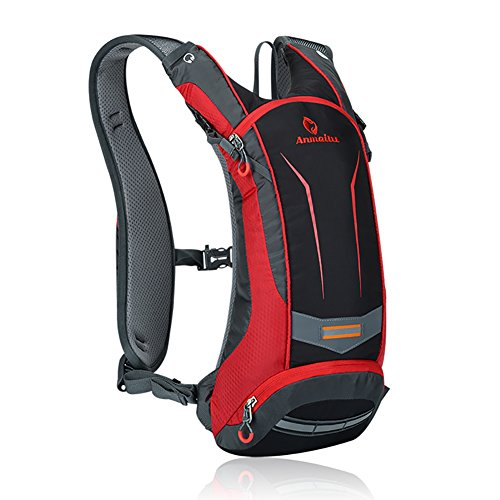 Nylon Hydration Pack - ANMEILU 8L Hydration Pack Backpack + 2L TPU Water Bladder Bag, Water Resistant Outdoor Sports Running Hiking Cycling Backpack (Red No Bladder)