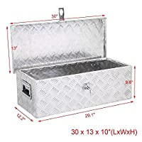 go2buy Aluminum Tool Box Storage for Truck Pickup Bed Trailer w/Lock, 30 x 13 x 10 inch (LxWxH)
