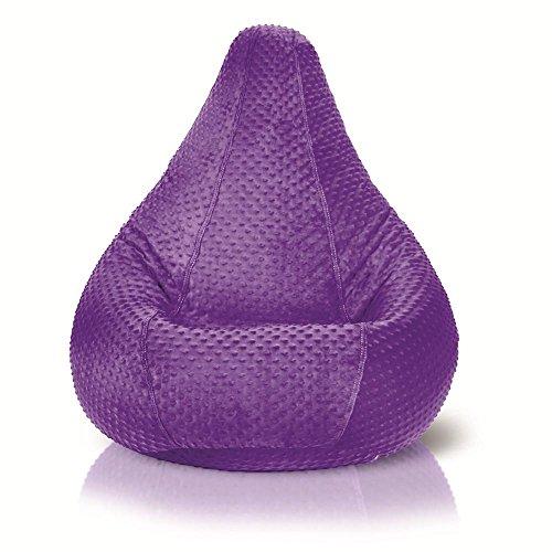 Adult Minky Dot Bean Bag, Purple