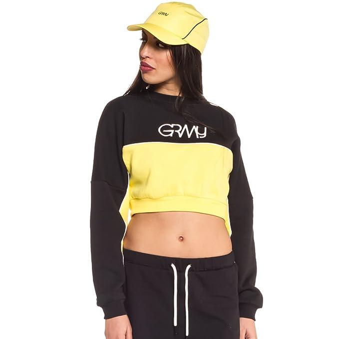 Grimey Sudadera Chica MANGUSTA V8 Crop Crewneck SS18 Black-L: Amazon.es: Ropa y accesorios
