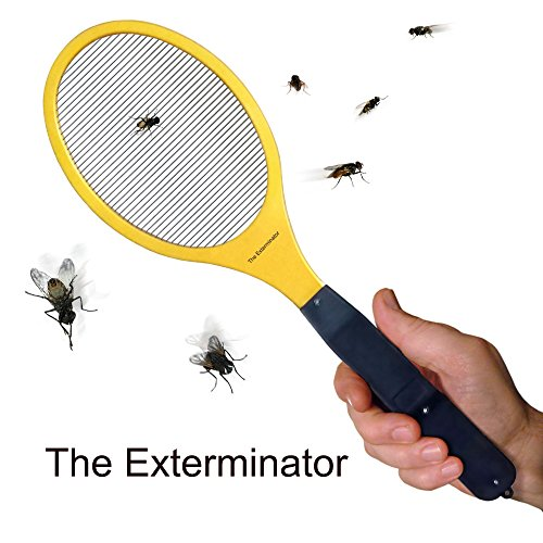 the exterminator bug zapper racket fly swatter kill. Black Bedroom Furniture Sets. Home Design Ideas