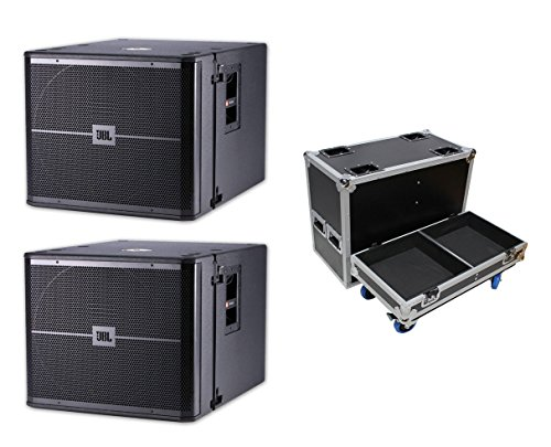 2x JBL VRX918SP 1500W Powered Flyable Subwoofer 18'' Active Sub+ATA Case w/Wheels by JBL