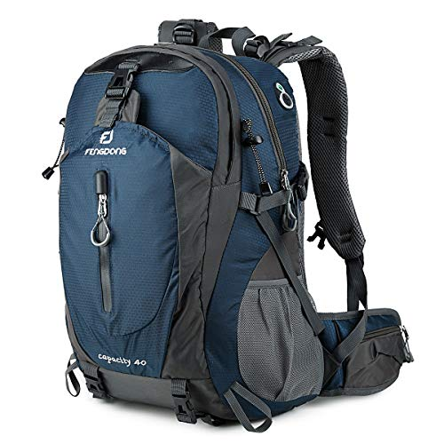FENGDONG 40L Waterproof Lightweight Outdoor Daypack Hiking