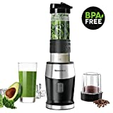 Smoothie Blender, Willsence Personal Blender 300W 2-in-1 Single Serve Smoothie Maker, Mini Bullet Blender with 20 Oz Tritan Sports Bottle for Juices, Shakes and Smoothies