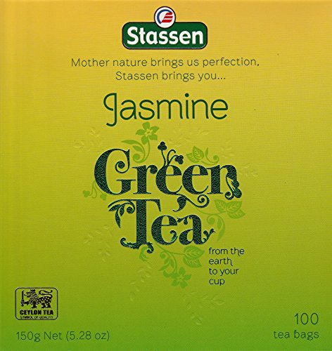 Stassen Pure Jasmine Green Tea, 100 Tea Bags (Pack of 2)
