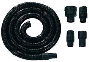 Einhell 2362000 - Extensión para manguera aspirador con 4 adaptadores, color negro