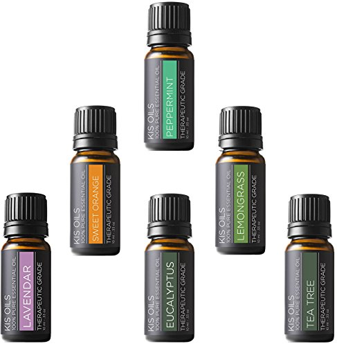 Aromatherapy Top 6 100% Pure Therapeutic Grade Basic Sampler Essential Oil Gift Basic sampler essential oil gift set 6/10ml lavender sweet orange peppermint lemongrass tea tree eucalyptus