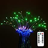 iLoving Hanging Starburst Fairy Twinkle Lights, 120 LED Bouquet Shape Firework Decorative String Lights Battery Operated with Remote Control for Garden, Patio, Wedding, Parties (Multicolor)