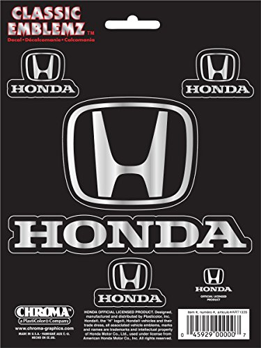 Chroma Graphics 3087 Honda Classic Emblem Decal, 4 (Honda Decal)
