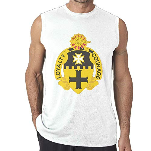 Brigade Fitted T-shirt - Pastcloud T-shirt US Army 5th Cavalry Brigade Distinctive Man's Sleeveless Muscle T Shirts Tank Top Tee 3X
