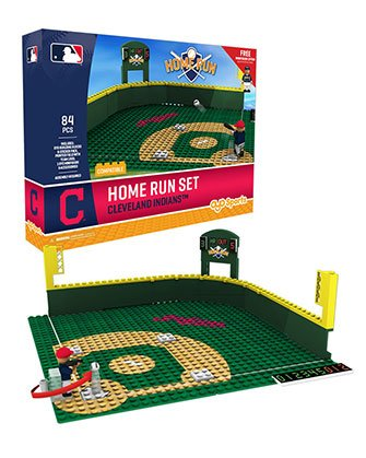 Oyo Sportstoys MLB Cleveland Indians Home Run Derby Set with Minifigure, Small, White