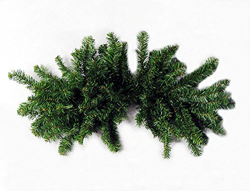 Darice 32'' Pre-Lit Canadian Pine Artificial Christmas Swag - Clear Lights by Darice