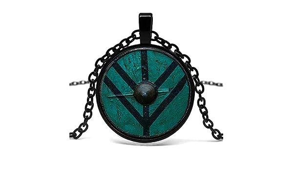 DADATU Collar Hombre Collar Vikingo Lagertha Colgante Joyería ...