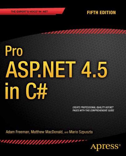 Download Pro ASP.NET 4.5 in C# Pdf