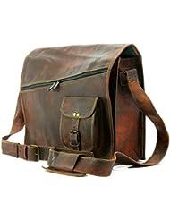 Handmade_World Vintage Brown 15 Leather Messenger Bag For Men Women Mens Briefcase Laptop Best Computer Shoulder...