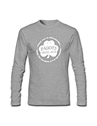 Xieling Men's Paddy's Pub Long Short Sleeve T Shirt